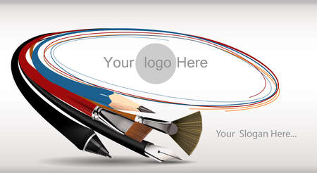 design graphic banner, tools