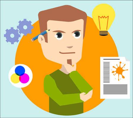 web marketing: creative graphic designer Illustration