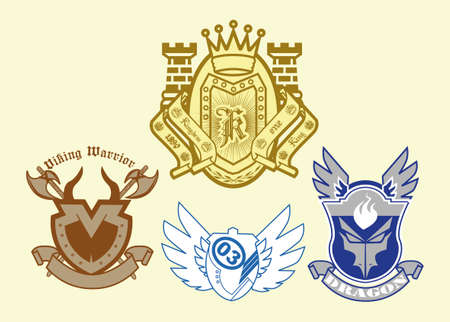 heraldic shield: infantil heraldic shield