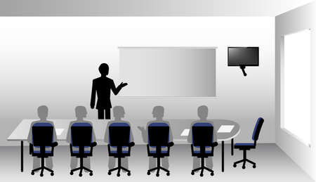 boardroom: presenation in the boardroom for bussines