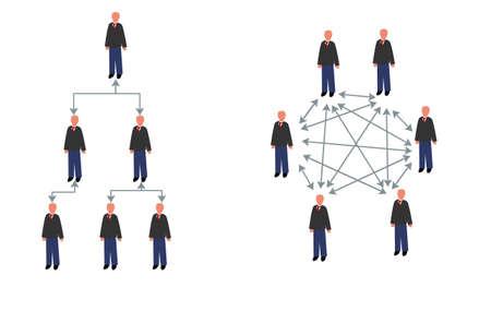 Diagramm Hierarchie und Matrix Standard-Bild - 47951242