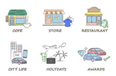cofe: Services, stores icons