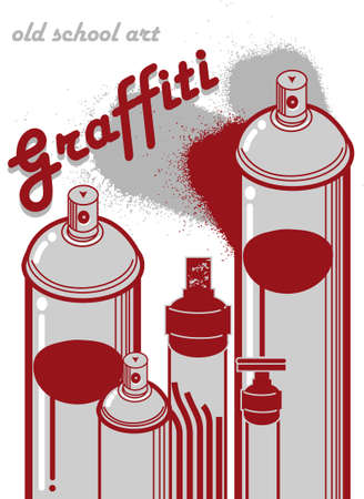 old times: graffiti old school illustration