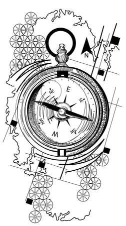 to pierce: compass Illustration