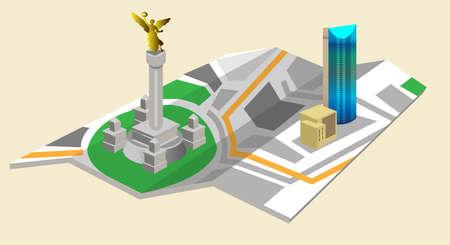 angel de la independencia: Mapa Mxico