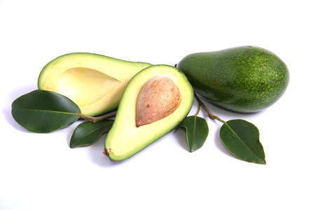 Avocado Pear fruit cut in half with pip Stock Photo - 2215183