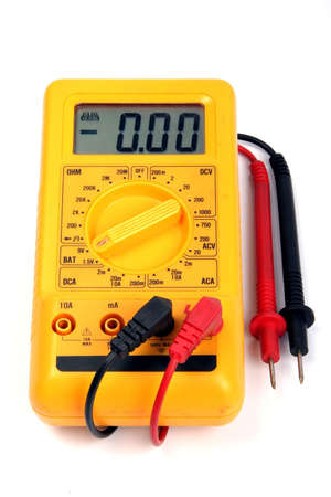 electricity meter: Multimeter isolated on a white background