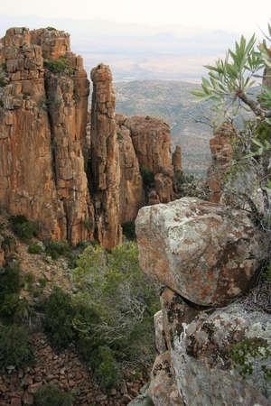 desolation: Unique rock formations in the Valley of Desolation in South Africa