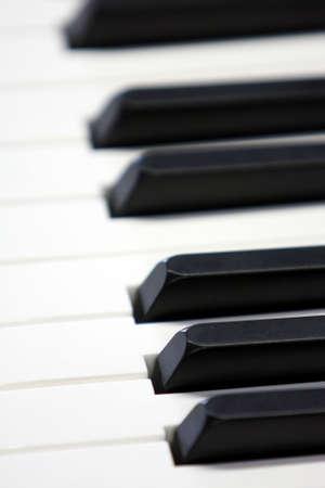 Closeup of Piano Keys with selective focus Stock Photo - 4323539