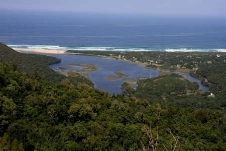 natures: The beautiful river mouth and lagoon at Natures Valley, South Africa
