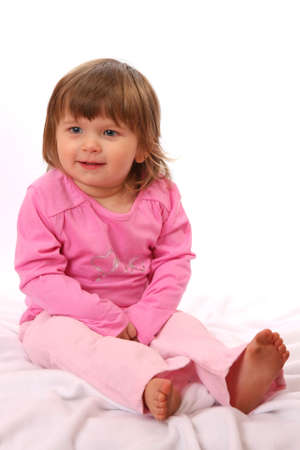 Cute two year old girl with a sweet smile Stock Photo - 4946975