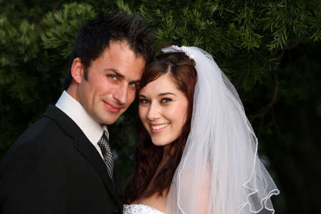 Attractive looking young couple on their wedding day Stock Photo - 6014932