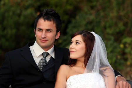 Attractive looking young couple on their wedding day Stock Photo - 6005937