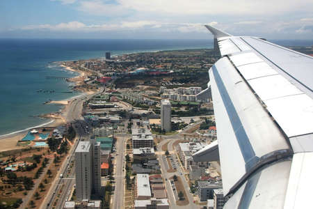 beachfront: Aerial view of Port Elizabeth beachfront in South Africa