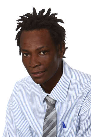 black business man: Young black business man with dreadlocks hairstyle