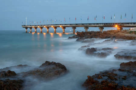 The landmark pier at Shark Rock in Port Elizabeth, South Africa