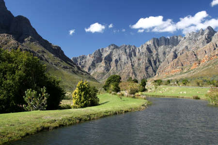 scenary: Beautiful scenary in the mountains of Du Toits Kloof pass in South Africa