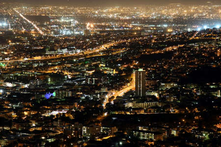Cape Town city lights at night - South Africa photo