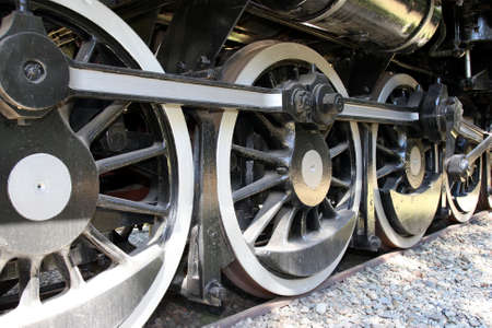 Wheels of a vintage Class 19D steam engine or locomotive  photo