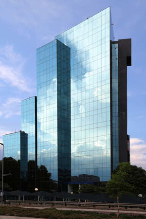 coporate: Modern glass building for business and coporate world