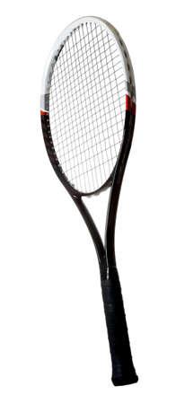 grafito: Modern tenis raqueta de grafito aislado en blanco Foto de archivo