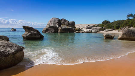 Boulders Beach in Cape Town with beautiful sand and water Stock Photo