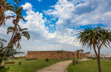 The entrance doors to the Fort Frederick built in 1800s in Port Elizabeth, South Africa Stock Photo