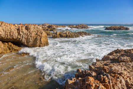 Beautiful Sea and Rocks at the Knysna Coast in South Africa