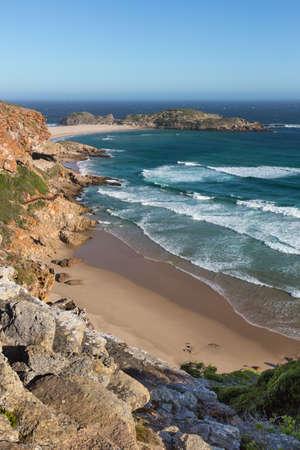 Magnificent sandy coastline at the Robberg near Pletternberg Bay  in South Africa Reklamní fotografie