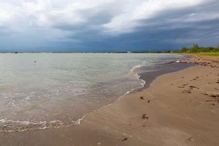 Deserted beach and stormy sky in Jamaica Reklamní fotografie