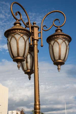 Beautiful old Colonial style street lamps in Kingston Jamaica Reklamní fotografie