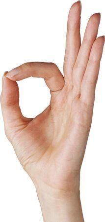 인간의 손 제스처는 모든 권리 다 괜찮습니다 절연 스톡 콘텐츠 - 39901575