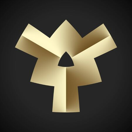 모든 로고 중 가장 단순한이 디자인은 재정, 비즈니스, 컨설팅 및 상거래에 적합합니다. 스톡 콘텐츠 - 66460514