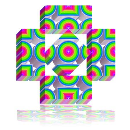 모든 로고 중 가장 간단한 디자인은 TV 채널, TV 및 TV 프로그램에 적합하며, 스톡 콘텐츠 - 66460536