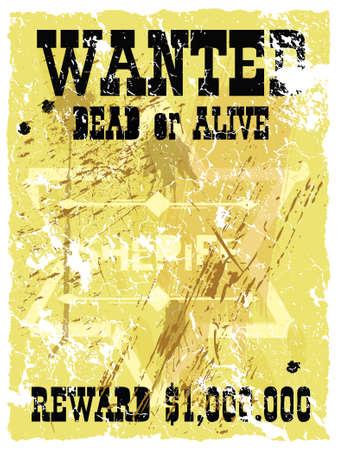 filibuster: Retro poster Wild West e stile. Vector  Vettoriali