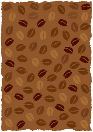 coffee beans background: Vector coffee beans background, torned edges