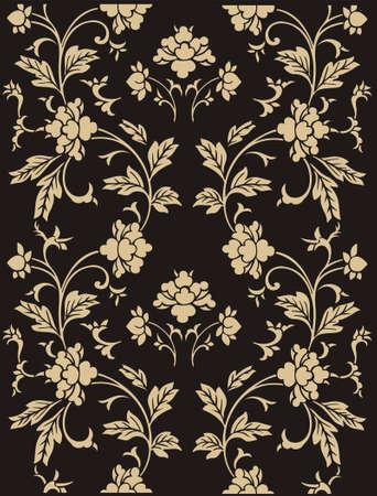 ornamentation: Seamless vector ornamental floral pattern