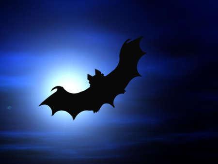 Halloween background, flying bat
