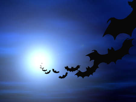 Halloween background, flying bats Banque d'images