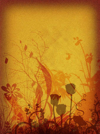 Background floral, rusty, retro mode Stock Photo - 348696