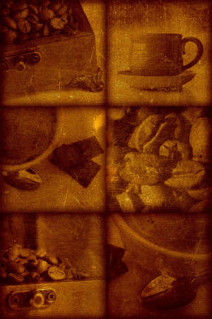 Vintage artistical stylish background, grainy texture. Coffee theme Stock Photo - 356818