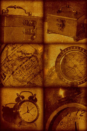 Vintage artistical stylish background, grainy texture. Retro objects Stock Photo - 356808
