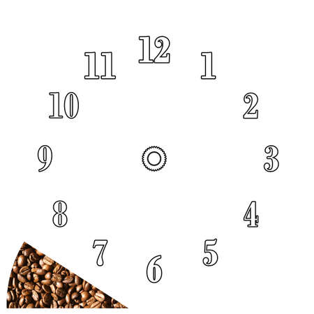 Coffee time - Clock stencil. Just put the coffee clipping where you need Stock Photo - 366195