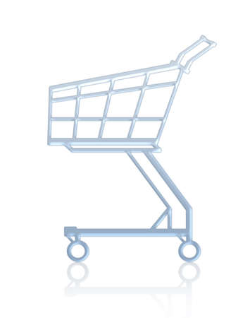 Empty shopping cart. Isolated Stock Photo - 512104
