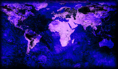 fluorescence: Fluorescence grungy world map