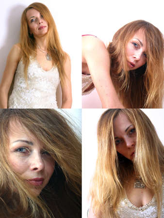 Four different portraits of the same woman Stock Photo - 1422196