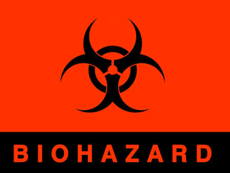Biohazard sign- isolated against white  Stock Photo - 1422138