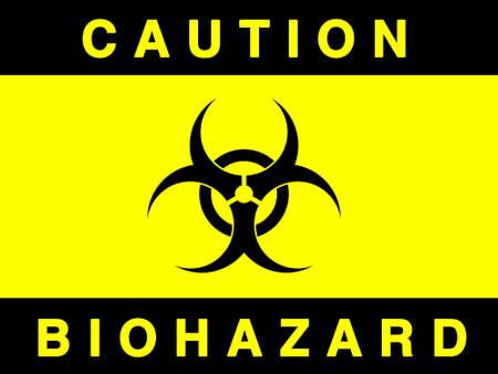 riesgo biologico: Signo de riesgo biol�gico contra la aislada blanco