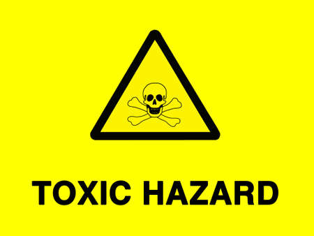 noxious: Toxic risk sign- isolated against white
