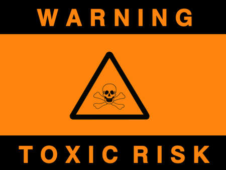jeopardy: Toxic risk sign- isolated against white